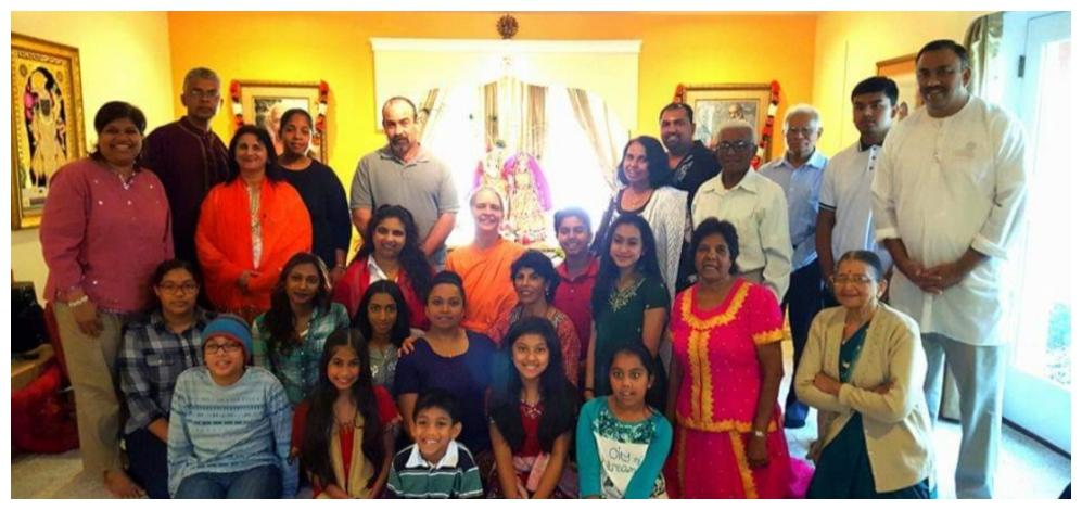 Day with Swamini Radikanandaji
